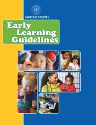 Early Learning Guidelines - Fairfax County Government