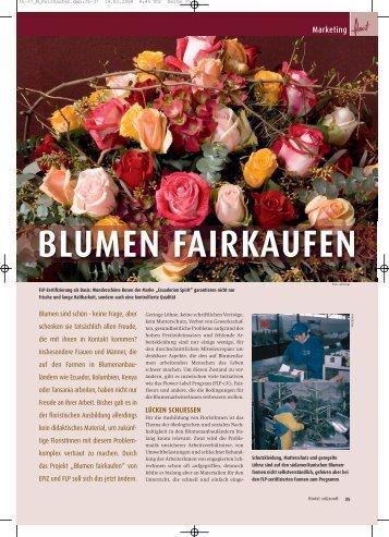 BLUMEN FAIRKAUFEN - Flower Label FLP