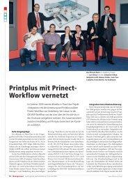 Printplus mit Prinect- Workflow vernetzt