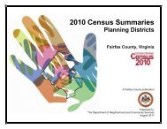 2010 Census Summaries - Fairfax County Government