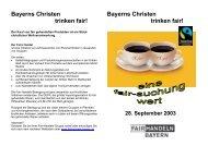 Bayerns Christen trinken fair - FairHandeln Bayern!