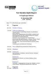 Fair Handels Gipfel Bayern - FairHandeln Bayern!