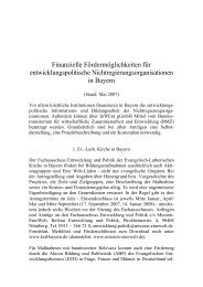 Fördermöglichkeiten (PDF) - Fair Handeln Bayern