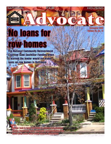 November 2006 - National Fair Housing Advocate Online