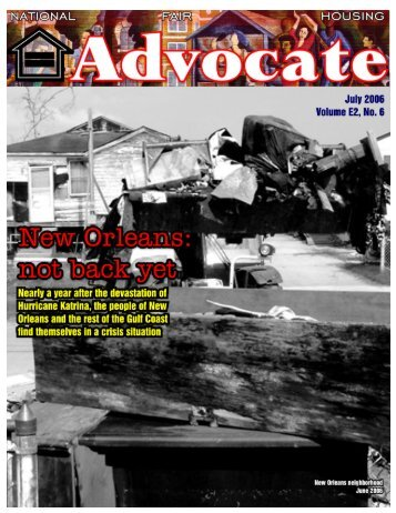 July 2006 - National Fair Housing Advocate Online