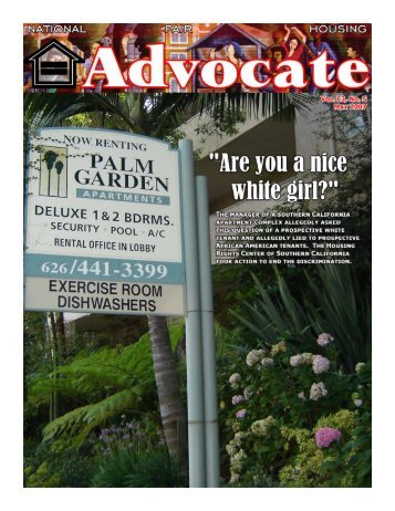 May 2007 - National Fair Housing Advocate Online