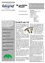 Bulletin Telegraf - fairlife
