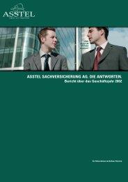 ASSTEL SACHVERSICHERUNG AG. DIE ANTWORTEN. Bericht ...