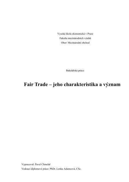 pdf, 439 kB - Fair Trade
