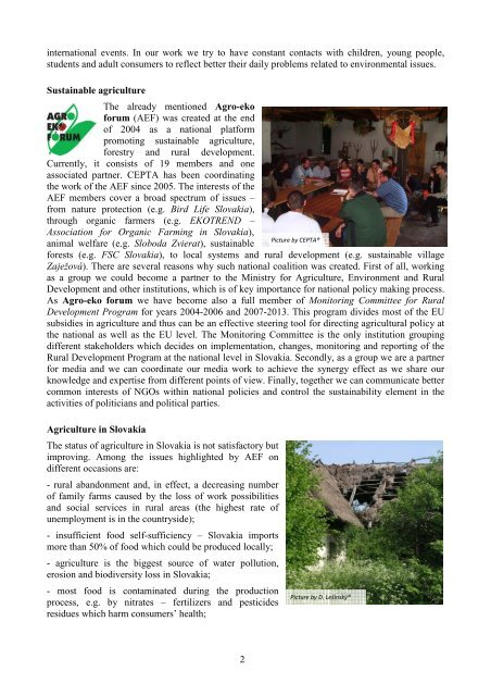 CEPTA - CEPTA and sustainable agriculture activities in ... - Fair Trade