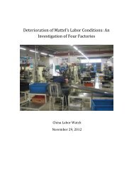 Deterioration of Mattel's Labor Conditions: An Investigation of Four ...