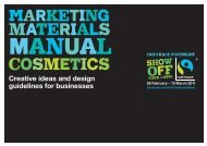 Creative ideas and design guidelines for businesses - The Fairtrade ...