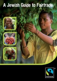 A Jewish Guide to Fairtrade - The Fairtrade Foundation