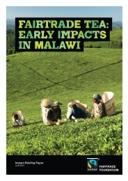 fairtrade tea: early impacts in malawi - The Fairtrade Foundation