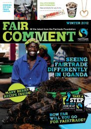 Comment - The Fairtrade Foundation