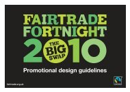 Promotional design guidelines - The Fairtrade Foundation