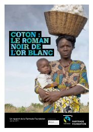 Coton : le roman noir de l'or blanc - The Fairtrade Foundation