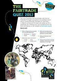The Fairtrade Quiz 2012