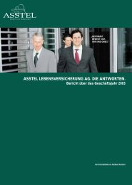 ASSTEL LEBENSVERSICHERUNG AG. DIE ANTWORTEN. Bericht ...