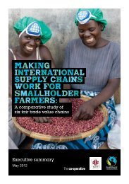Making supply chains work for smallholder farmers - The Fairtrade ...