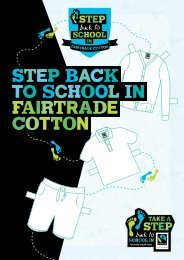 Step back to school in Fairtrade cotton: Summer Action Guide