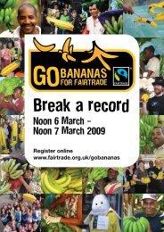 Go Bananas flyer - The Fairtrade Foundation