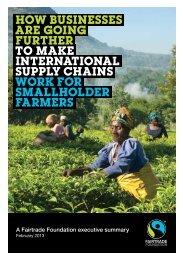 executive summary - The Fairtrade Foundation