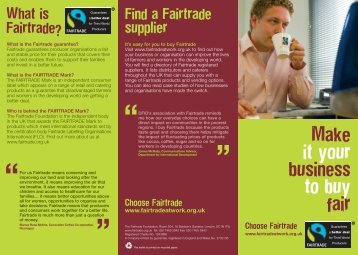 to download - The Fairtrade Foundation
