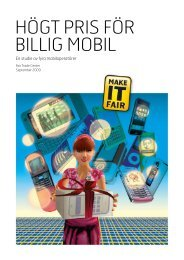 Högt pris för billig mobil: En studie av fyra mobiloperatörer - makeITfair