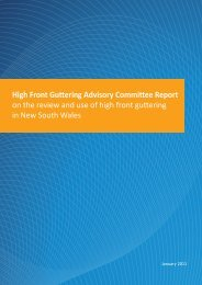 High front guttering advisory committee report - NSW Fair Trading ...
