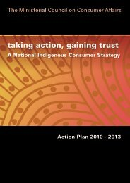 National Indigenous Consumer Strategy Action ... - NSW Fair Trading