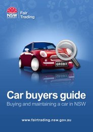 Car buyers guide - NSW Fair Trading