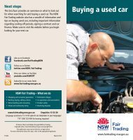 Buying a used car - NSW Fair Trading