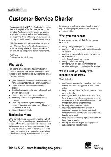 sample customer service charter Manages state fleet – the purchase, management and disposal of government  procurement customer service charter vehicles for western australian.