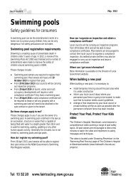Swimming pools - safety guidelines for consumers - NSW Fair Trading