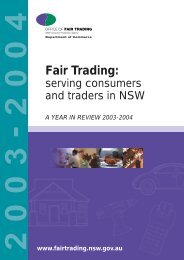 A year in review 2003-2004 - NSW Fair Trading - NSW Government