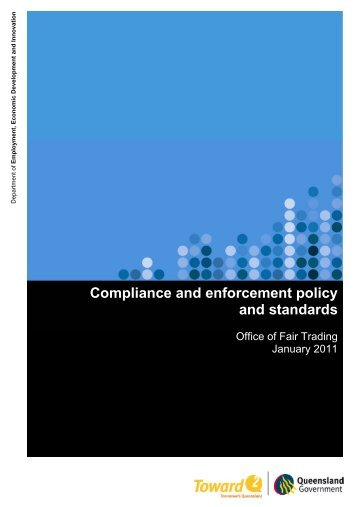 Compliance and Enforcement Framework - Office of Fair Trading ...
