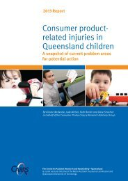 Consumer product- related injuries in Queensland children
