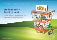 student entry development worksheet here - Office of Fair Trading