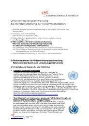 Internationale Regelwerke und Richtlinien - fairunterwegs
