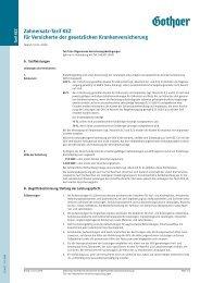 Zahnersatz-Tarif KEZ für Versicherte der gesetzlichen ... - Asstel