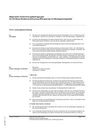 Allgemeine Versicherungsbedingungen für die Basis - Asstel