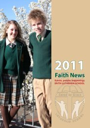 to download 'Faith News' 2011 - Faith Lutheran College