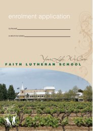to download Application Form - Faith Lutheran College