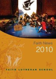 to download 'Faith News' 2010 - Faith Lutheran College
