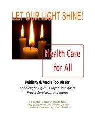 Sample: Media Advisory #1 - Faithful Reform in Health Care