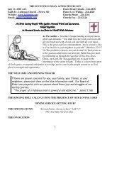 July 11, 2010 Bulletin (.pdf) - Faith Lutheran Church