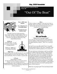 May, 2009 Newsletter - Faith Lutheran Church