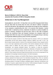 United also in the Top Management - Assystem Gmbh