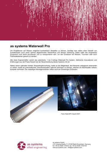as systems Waterwall Pro